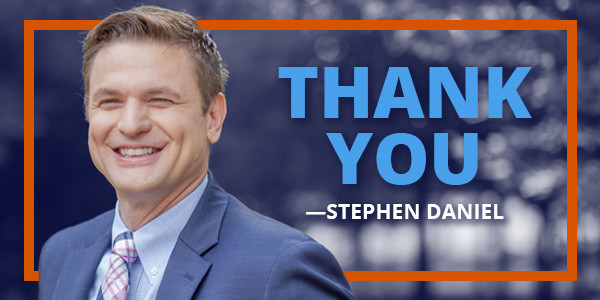 Stephen Daniel Campaign Email Graphic