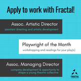 """""""Apply to Work with Fractal"""" Graphic"""