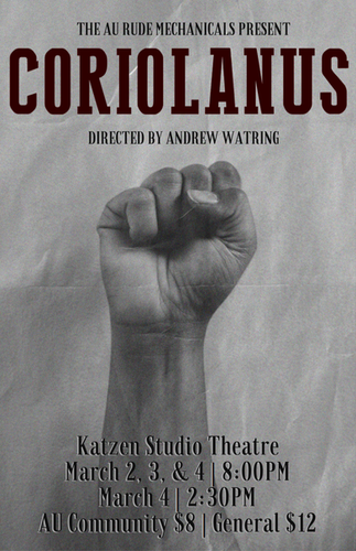 Coriolanus Show Program