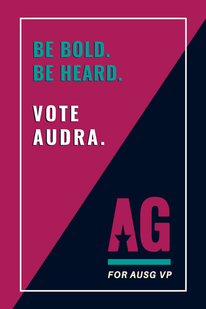 Audra Gale Campaign Poster