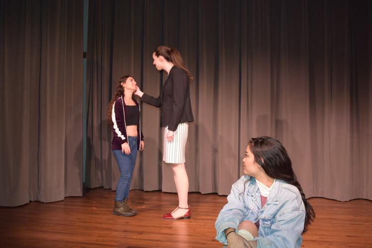 Laertes, Polonius, and Ophelia