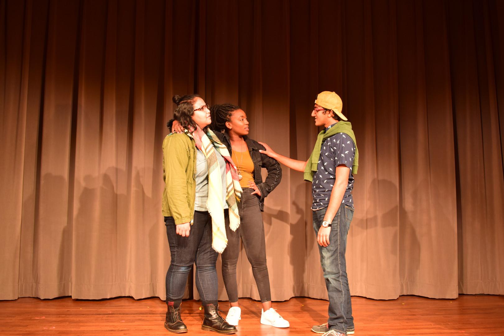 Guildenstern, Hamlet, and Rosencrantz