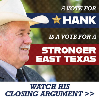 Hank Gilbert Campaign Facebook Ad (targeted to Republicans)