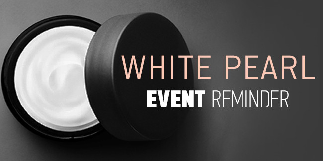 White Pearl Event Reminder Email Banner