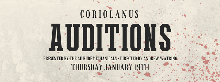 Coriolanus Audition Facebook Event cover photo