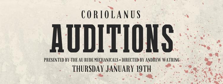 Coriolanus Audition Facebook Event cover photo