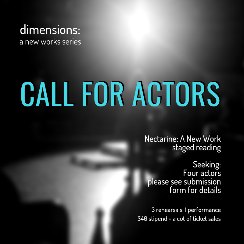 """Call for Actors"" Graphic"
