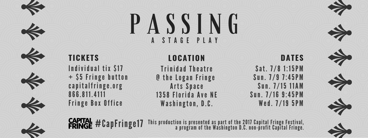 Passing - a Stage Play showtimes banner