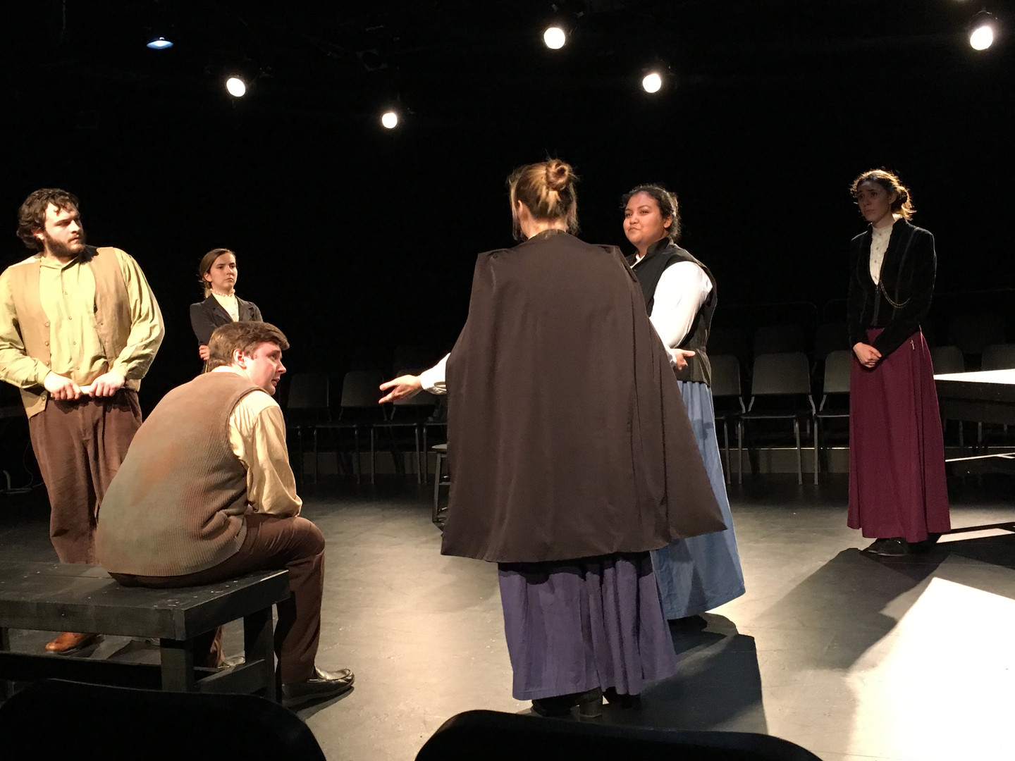 The cast of The Crucible