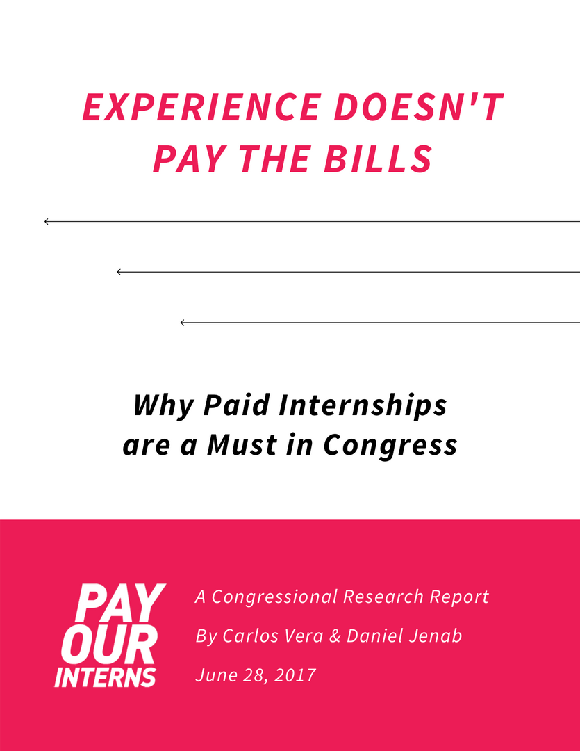 """Experience Doesn't Pay The Bills"" Report"