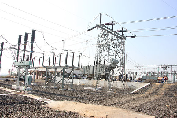 Substation with distribution line , supply operation and maitenence contractors
