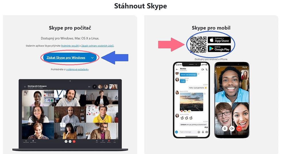 Online výuka angličtiny funguje skvěle přes Skype.