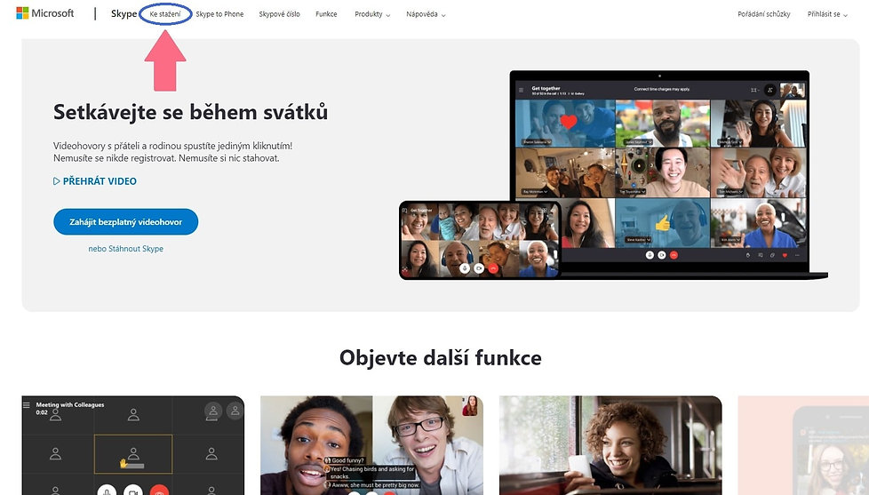 Takto lze stáhnout Skype pro individuální výuku angličtiny online.
