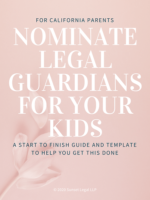 CA Guardianship Guide and Template (PDF)