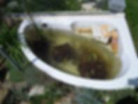recyclage d'une baignoire en bassin