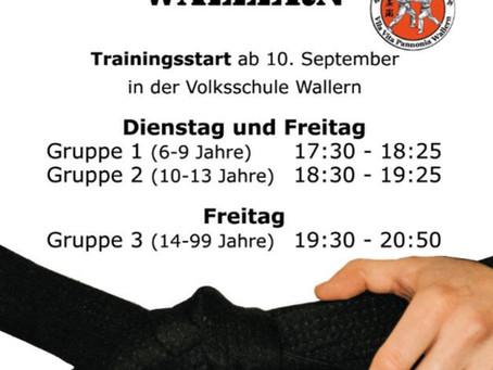 Trainingsstart - September 2021!!!
