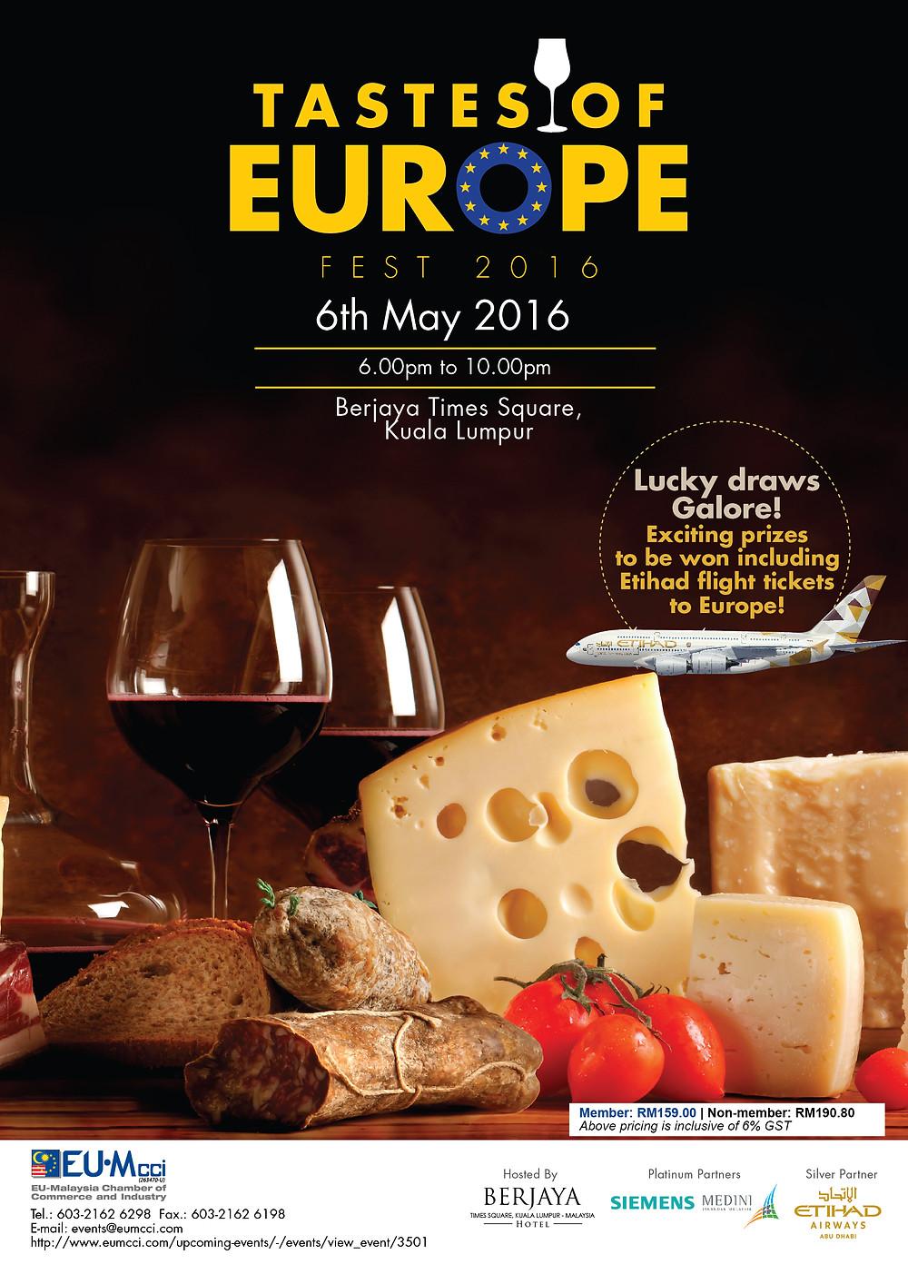 Tastes of Europe Fest - flyer