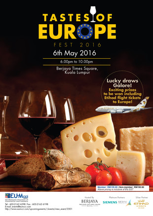 Tastes of Europe Fest & Networking Event 6 May 2016