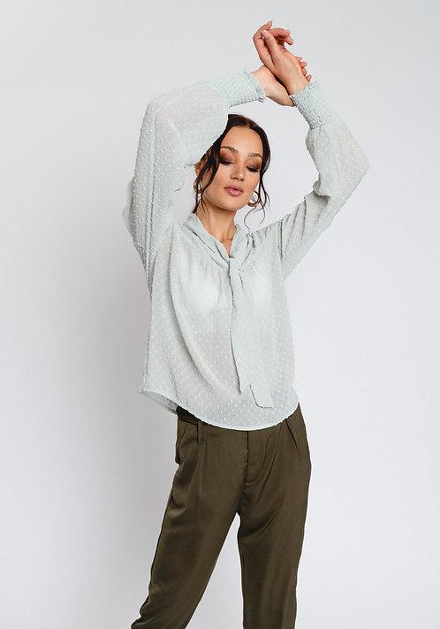 R&C Sofi swiss dot blouse