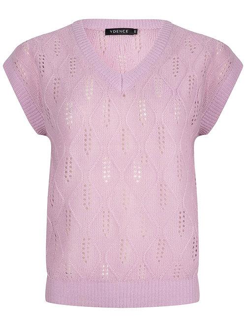 Knit top Lynn soft lila