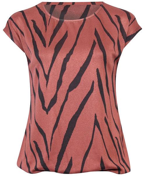 Shirt Amy zebra brique