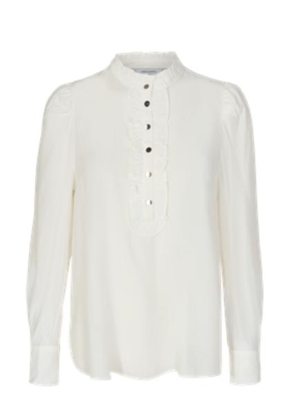 FQ April wit hemd met ruches