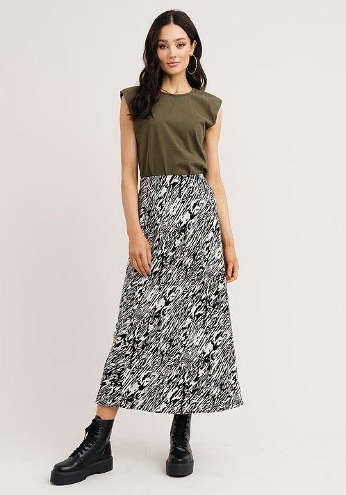 R&C Zana skirt white black