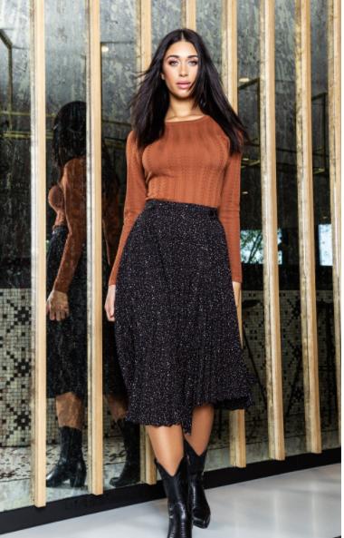 LM skirt Raya black brown