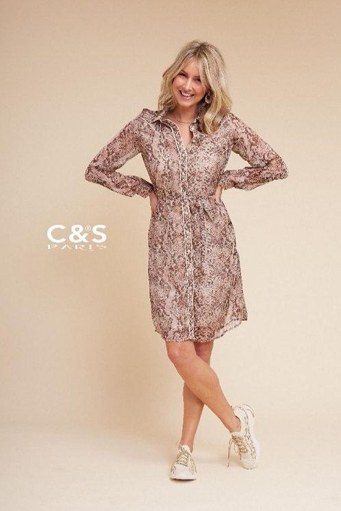 c&s design bruine jurk 20vfc14-1471