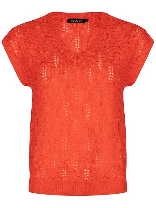 Knitt Lyn coral red