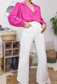 insta girl hoge taille broek wit