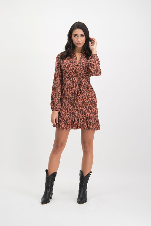 LM dress Gaby brown pink