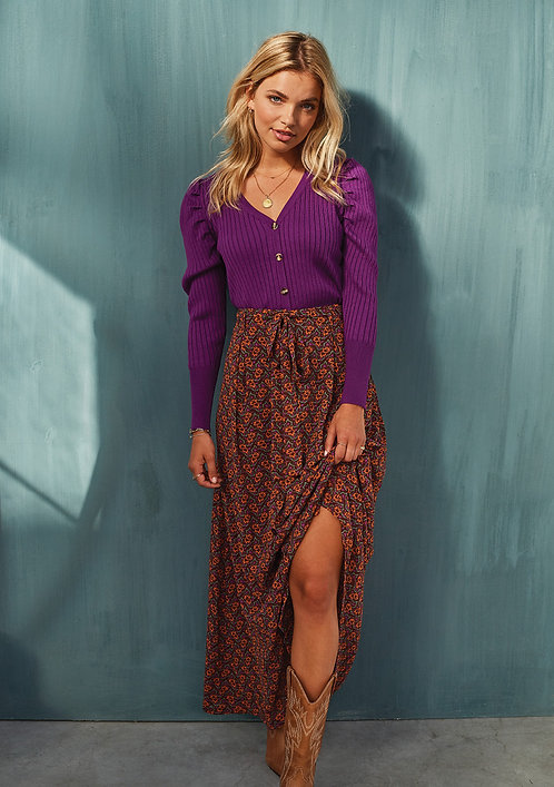 Ydence skirt ameli brown orange print