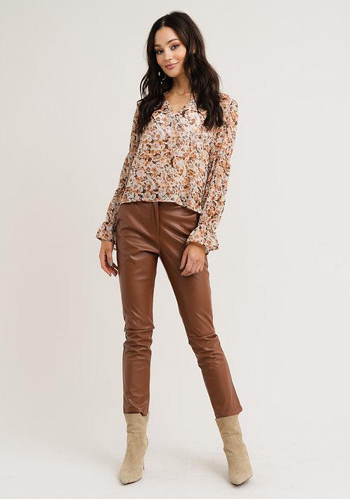 RC Mindy flowerprint blouse brown