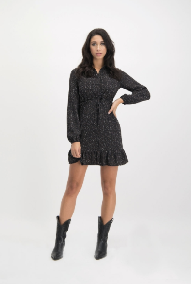 LM dress Gaby black brown
