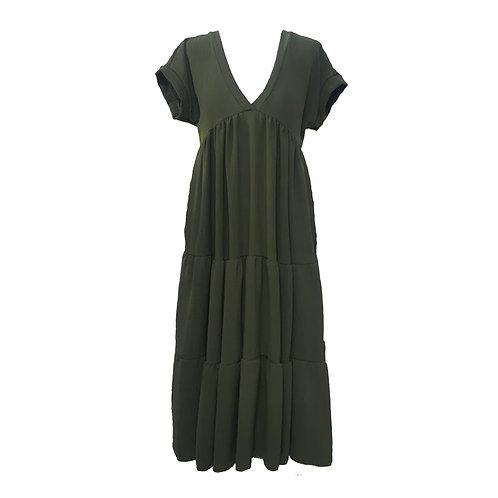 V neck smock dress.