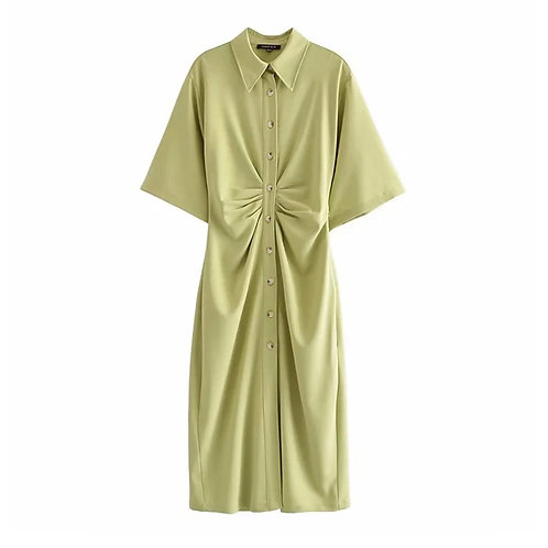 Fitted Calf length dress