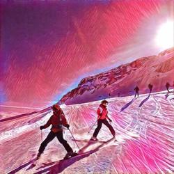 Dolomites skiing