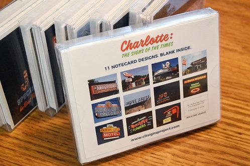 Charlotte Landmark Signs Notecard Set