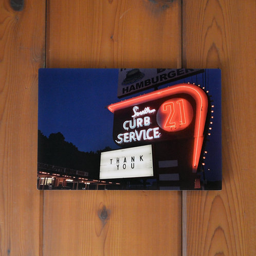 'South 21 Drive-In' Wall Metal Print
