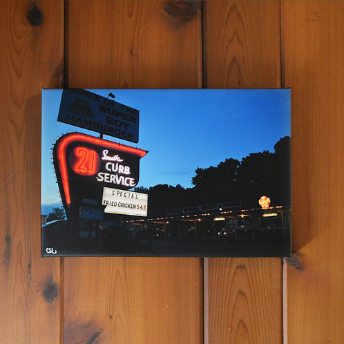 'South 21 Drive-In' Wall Canvas