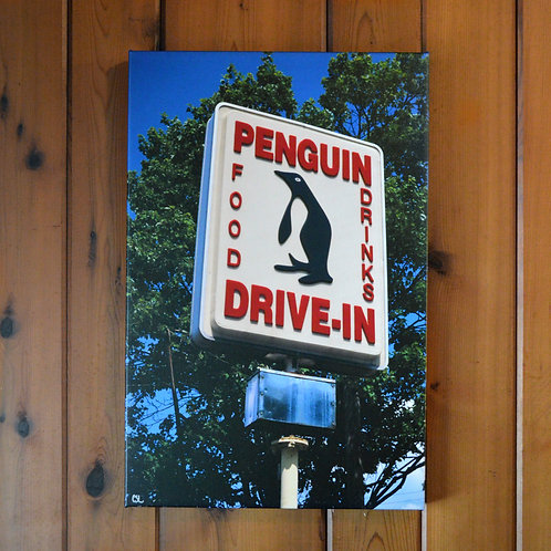 'Penguin Drive-In' Wall Canvas