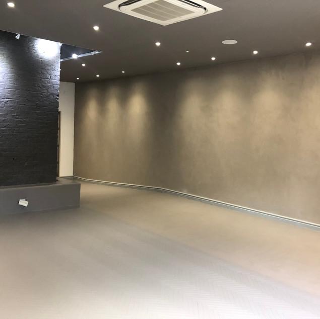 Kdh Casa Ceramica reception area install by Lauzzo