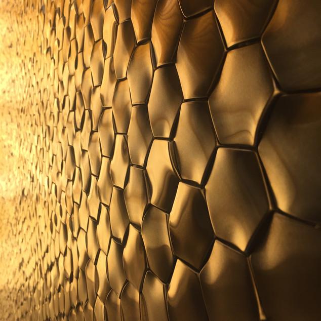 Lauzzo gold tile mosaic