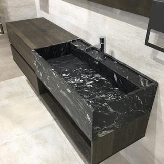 Lauzzo bathroom stone basin