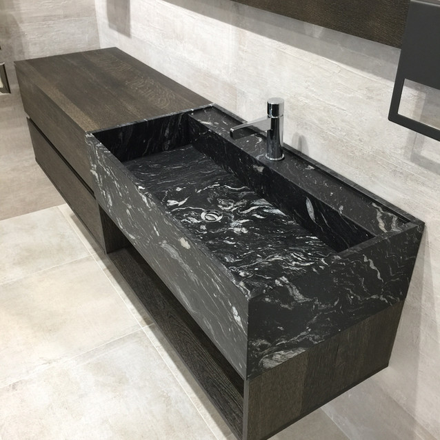 Lauzzo bathroom stone basin
