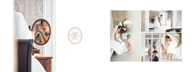 Hochzeitsalbum Seitendesign