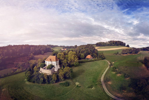 Schloss Rued Drohne