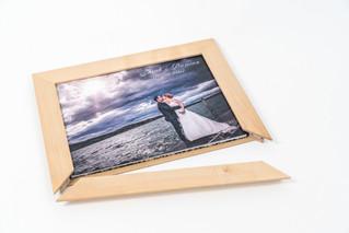 Hochzeitsalbum mit Holzrahmen
