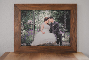 Hochzeitsalbum mit Nussbaumholzrahmen